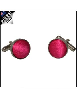 Mens Bright Hot Pink Cufflinks