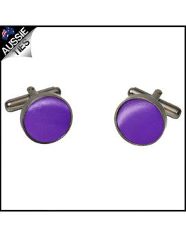 Mens Cadburys Amethyst Purple Cufflinks