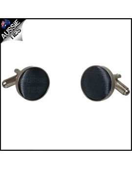 Mens Dark Silver Grey Cufflinks