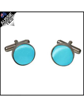 Mens Dark Turquoise Aqua Cufflinks
