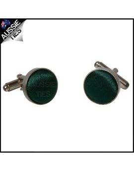 Mens Forest Dark Green Cufflinks