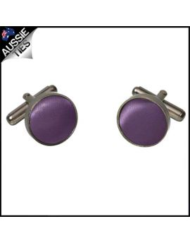 Mens Grape Eggplant Purple Cufflinks