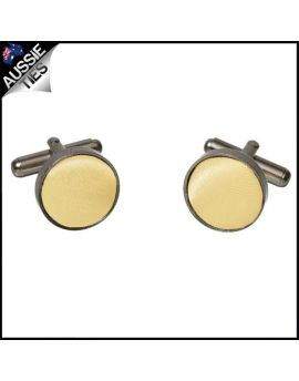 Mens Light Gold Yellow Cufflinks