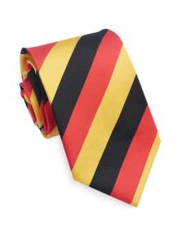 red black and yellow men's tie