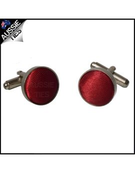 Mens Scarlet Red Cufflinks