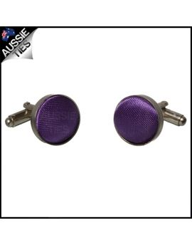 Mens Violet Purple Cufflinks