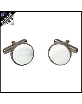 Mens White Cufflinks