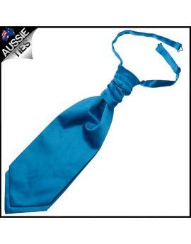 Mens Cobalt Blue Cravat Necktie