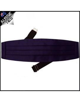 Mens Dark Purple Cummerbund
