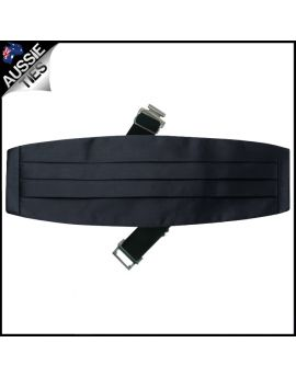 Mens Dark Silver Grey Cummerbund