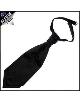 Mens Jet Black Cravat Necktie