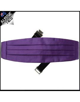 Mens Violet Purple Cummerbund