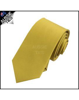 Boys Metallic Gold Plain Necktie