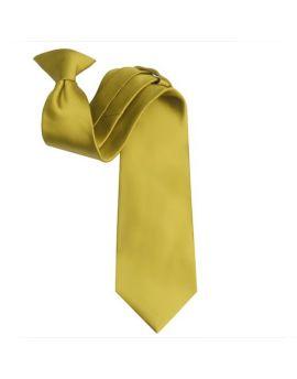 Mens Metallic Gold Clip On Tie