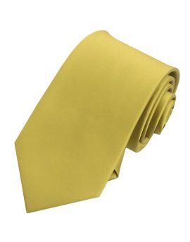Mens Metallic Gold Tie