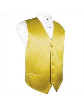 Metallic Gold Waistcoat Vest
