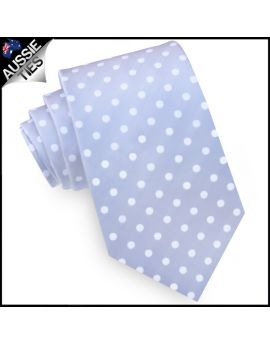 Grey Polka Dot Mens Tie