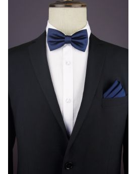 Dark Midnight Blue Bow Tie