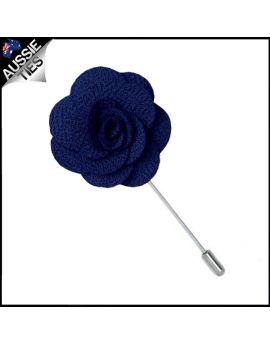 Midnight Blue Floral Lapel Pin