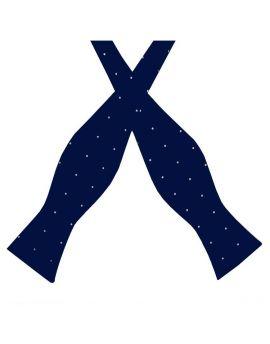 Midnight Blue Pin Dot Self Tie Bow Tie