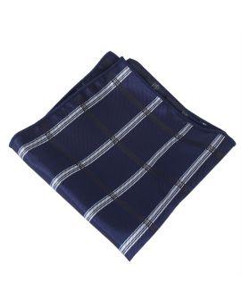dark blue plaid design pocket square