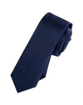 Mens Midnight Blue Skinny Tie