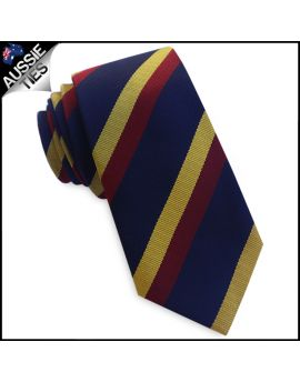 Regular Navy with Red & Yellow Stripes Tie 8.0cm