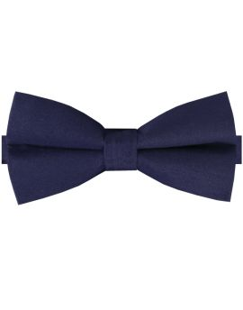 Indigo Dark Blue Cotton Men's Bow Tie