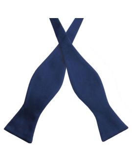 Midnight Blue Self Tie Bow Tie