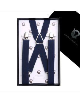 Men's Midnight Blue X2.5cm Large Braces