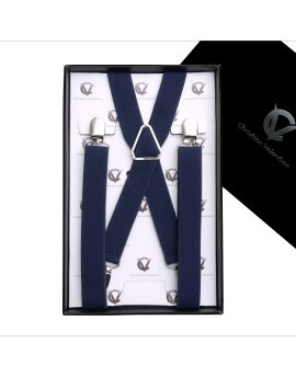 Boy's Midnight Blue Braces Suspenders X2.5cm