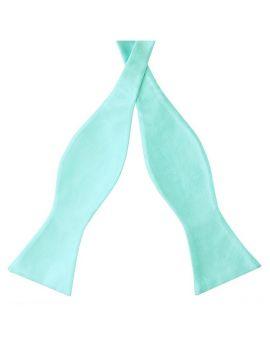 Mint Green Tiffany Self Tie Bow Tie