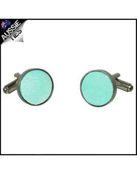 Mens Light Mint Green Tiffany Cufflinks