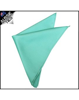 Mint Green Woven Texture Pocket Square