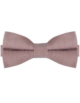 Mocha Light Brown Cotton Mens Bow Tie