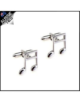 Mens Music Notes Cufflinks