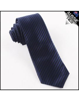 Navy & Black Thin Stripes Mens Necktie