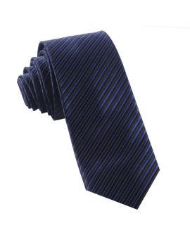 Navy & Black Thin Stripes Mens Tie
