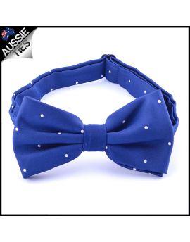 Navy Blue Pin Dot Mens Bow Tie