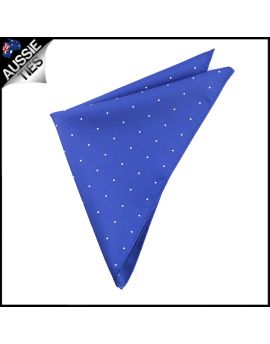 Navy Blue Pin Dot Pocket Square Handkerchief