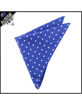 Navy Blue Polka Dot Pocket Square Handkerchief