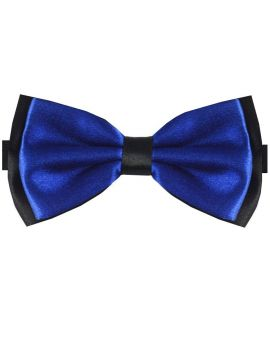 Navy Blue with Black Back Bow Tie