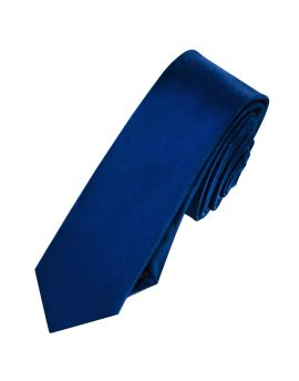 Mens Navy Blue Skinny Tie