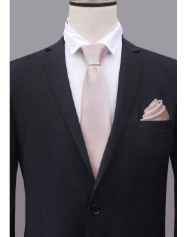 Nude Pale Pink Men's Tie