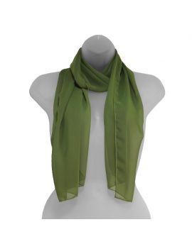 Olive Green Chiffon Scarf