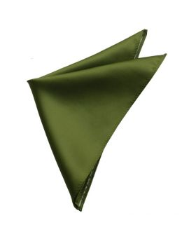 Mens Olive Green Pocket Square