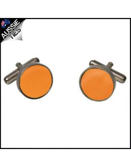 Mens Orange Cufflinks