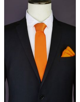 Mens Orange Tie