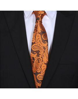 mens orange paisley tie