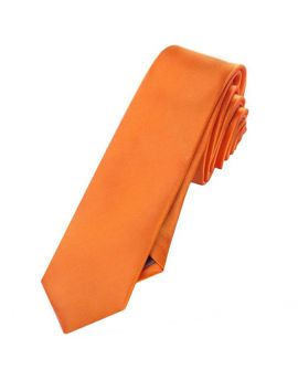 Mens Orange Skinny Tie